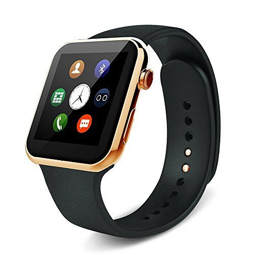 WFB Heart Rate Monitor SmartWatch Fitness Tracker with HD DP Bluetooth Compatible for iphone7  Andriod 42 and Above  Gold  * You can get more details by clicking on the image.