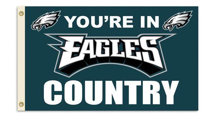 Philadelphia Eagles 3 Ft. X 5 Ft. Flag W/Grommetts