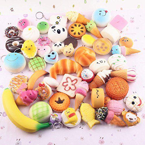 Lance Home 12 pieces aléatoire Souple simulation Panda Pain gâteau Buns Porte-clés Téléphone Pendentif Sangles Toys: 1. Matériel: mousse…