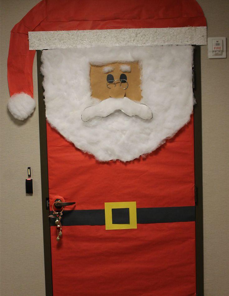Santa door & 14 best Christmas Door Decorating Contest images on Pinterest ...