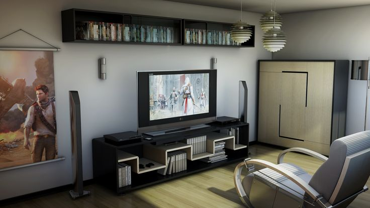 Modern and Sleek Video Game Room