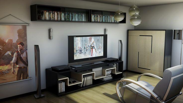 Modern and Sleek Video Game Room