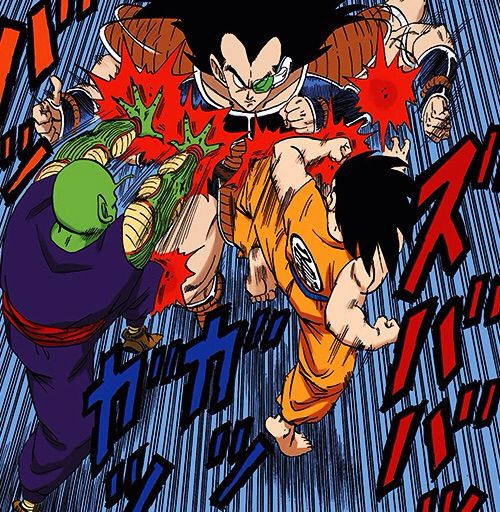 Piccolo and Goku vs Raditz
