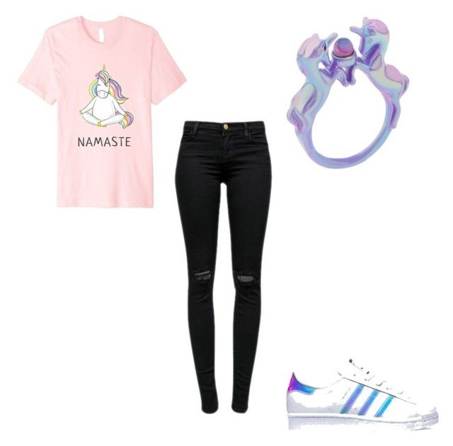 """#414"" by aureeliet on Polyvore featuring J Brand and adidas"