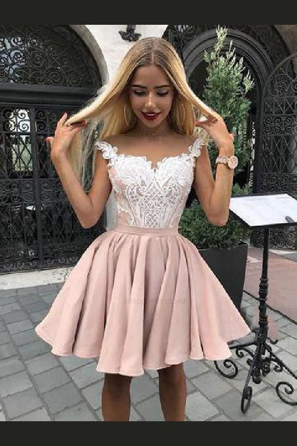 02187a5e01f Homecoming Dress Short, Lace Homecoming Dress, Cute Homecoming Dress  #HomecomingDressShort #CuteHomecomingDress #LaceHomecomingDress Homecoming  Dresses 2018