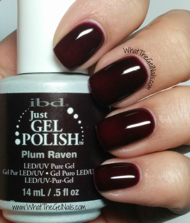 IBD Plum Raven, plus more IBD gel polish colors for winter.