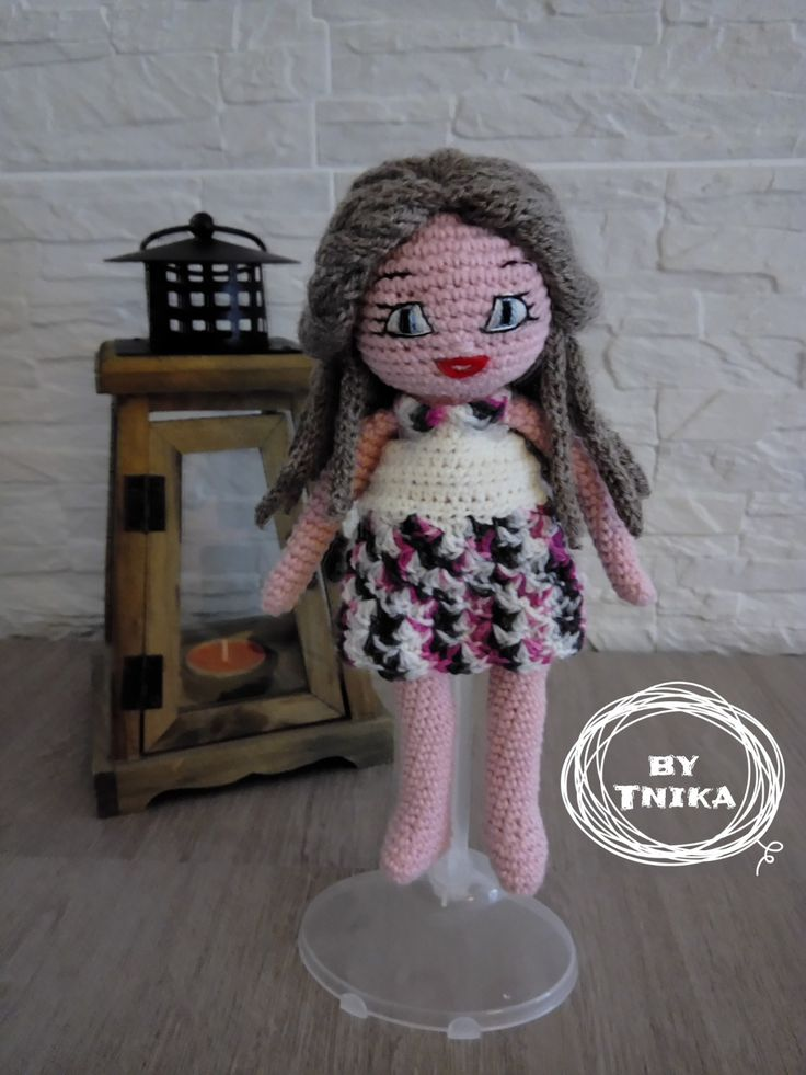 Crochet doll CHELSEA, doll by Tnika