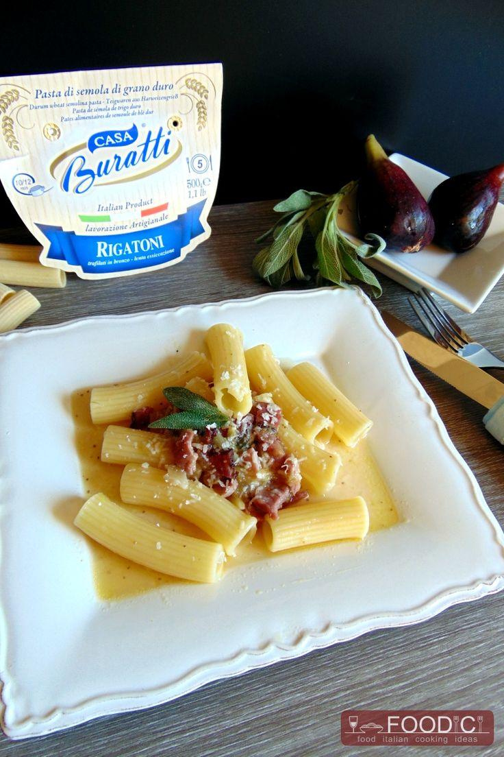 RIGATONI CON FICHI E SPECK  #ricetta #recipe #cookingitalian #recipeitalian…