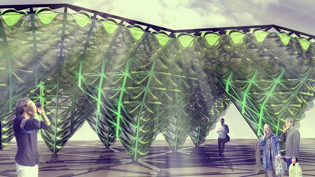 ecoLogicStudio transforms cladding system into a bioreactor with Urban Algae Canopy In this movie Marco Poletto of ecoLogicStudio claims the integrated algae farm and cladding system his practice will showcase at the 2015 Milan Expo could be used to power cities in future. See more architecture and design movies at http://www.dezeen.com/movies