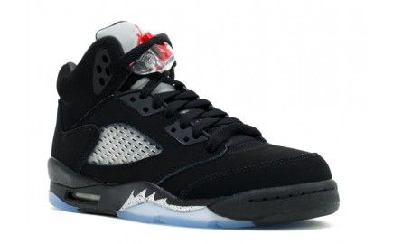 authentic air jordan 5 gs womens retro 2016 black fire red-metallic silver-white