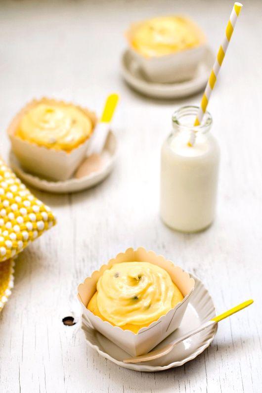 Delicious Bites: Passion Fruit Cupcakes recipe http://decor8blog.com/2013/08/14/delicious-bites-passion-fruit-cupcakes/