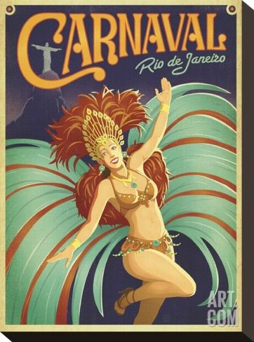 Carnaval Rio de Janeiro Stretched Canvas Print by Anderson Design Group at Art.co.uk