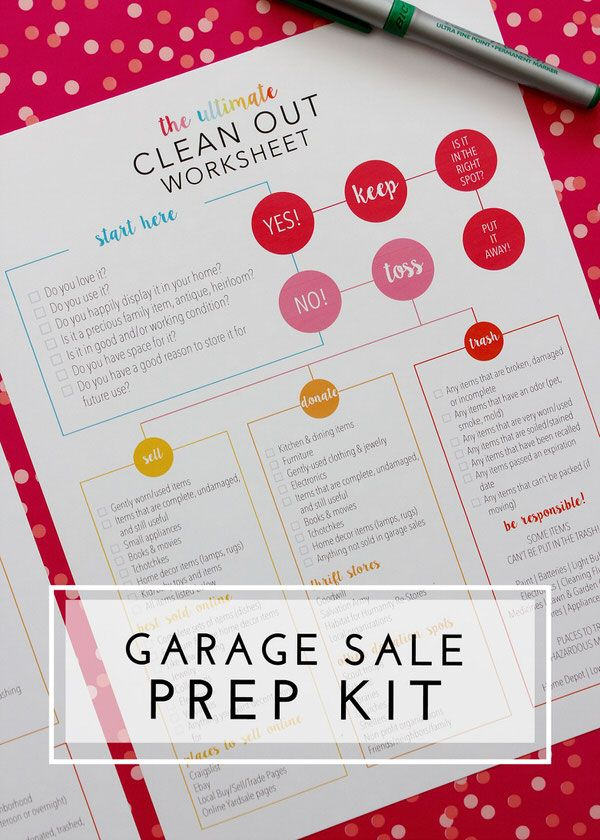 Awesome Garage Sale Ideas Organize Part - 6: The Organization Toolbox. Garage Sale OrganizationGarage Sale TipsPricing  ...