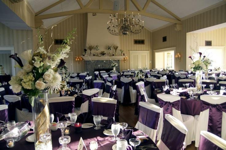 reception decor eggplant ivory gold wedding style pinterest decor receptions and ivory. Black Bedroom Furniture Sets. Home Design Ideas