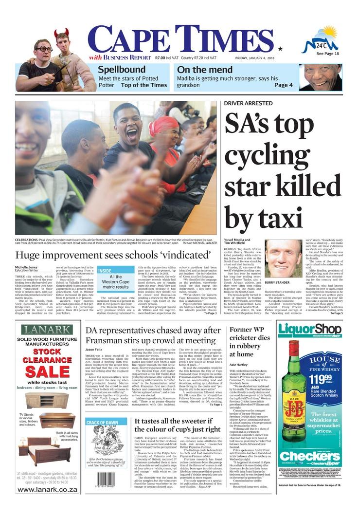 News making headlines: SA's top cycling star killed by taxi