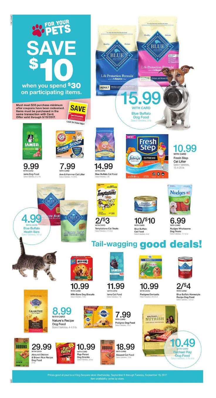 King Soopers Pet Event September 6 - 19, 2017 - http://www.olcatalog.com/grocery/king-soopers-seasonal-low-prices.html