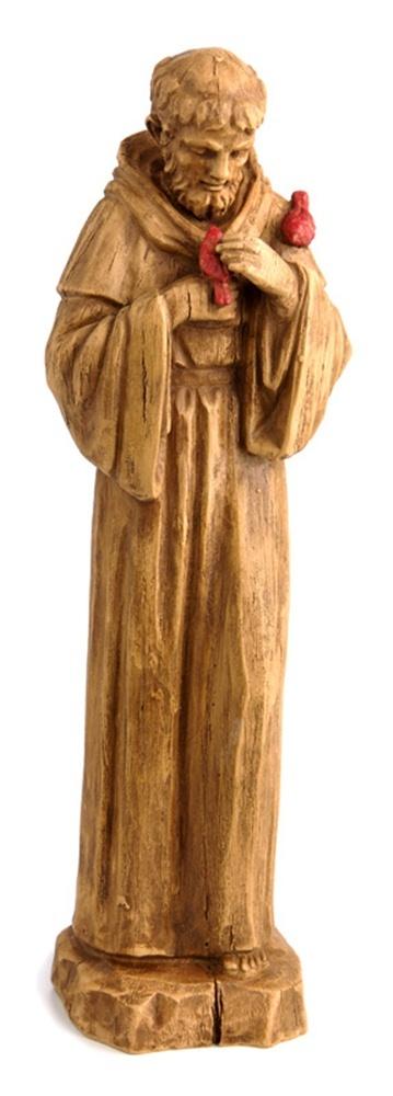 St. Francis Religious Outdoor Garden Statue Wood Look