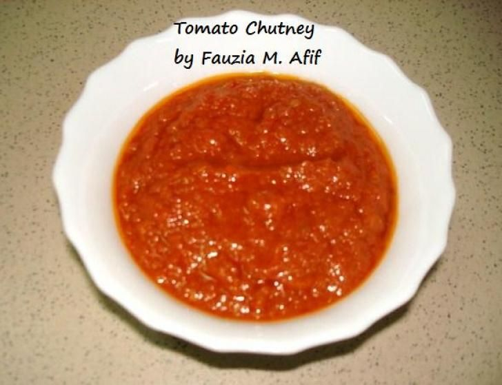 Tomato Chutney | Fauzias Kitchen Fun