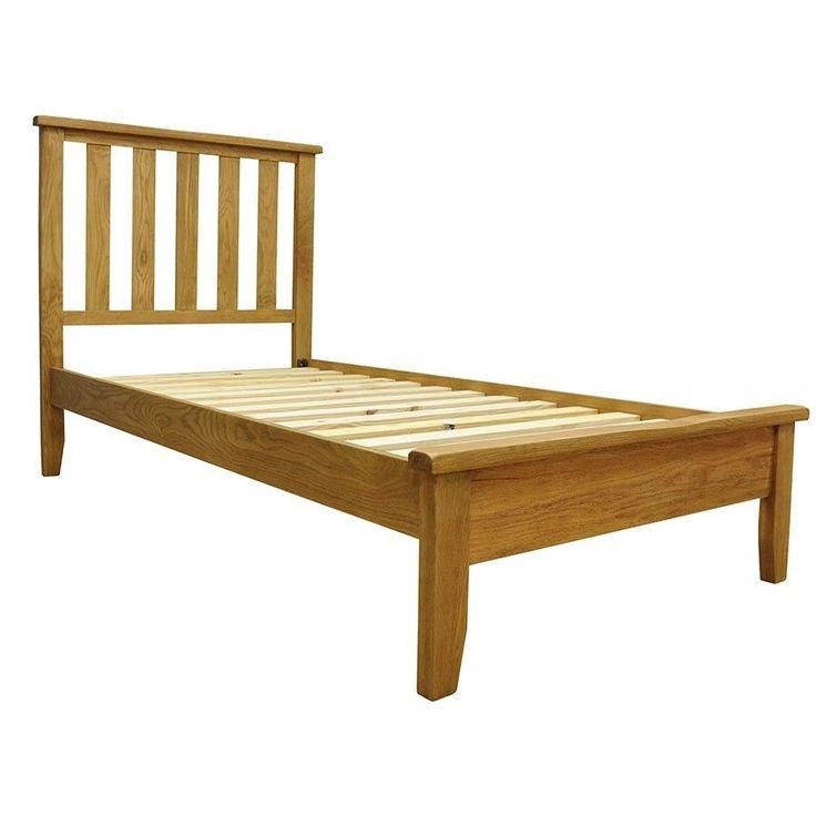 Wooden Single Size Bed Frame Solid Oak Pine Slats Rustic Bedroom Furniture Big