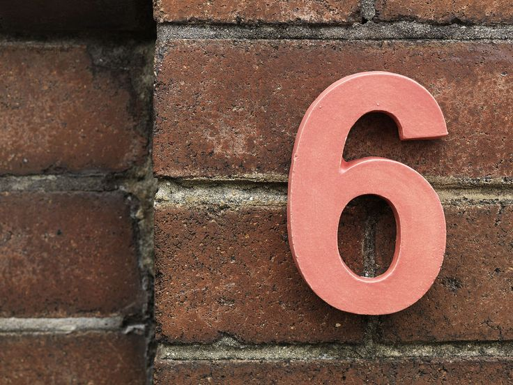 Terracotta House Numbers