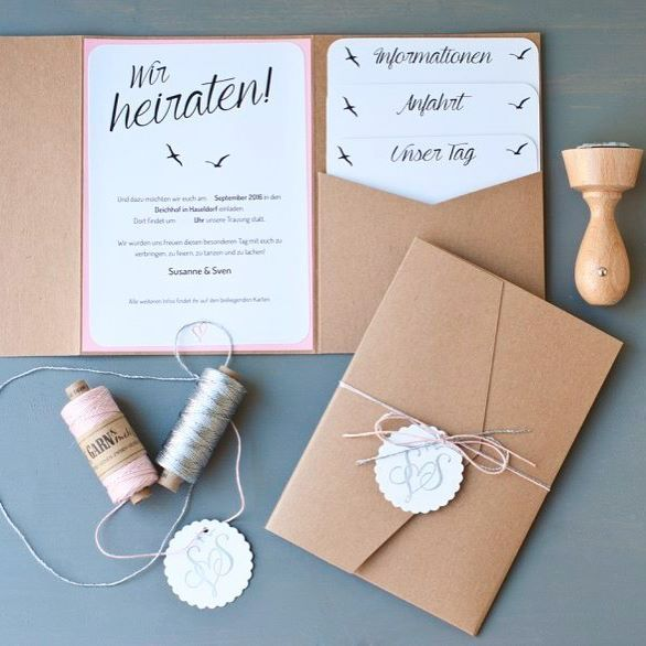 Heute auf dem Blog - unsere Hochzeitseinladungen! Mit viel Liebe selbstgemacht!  Happy Sunday! #DIY #wedding #invitation #bridetobe #braut2016 #instabraut #hochzeit