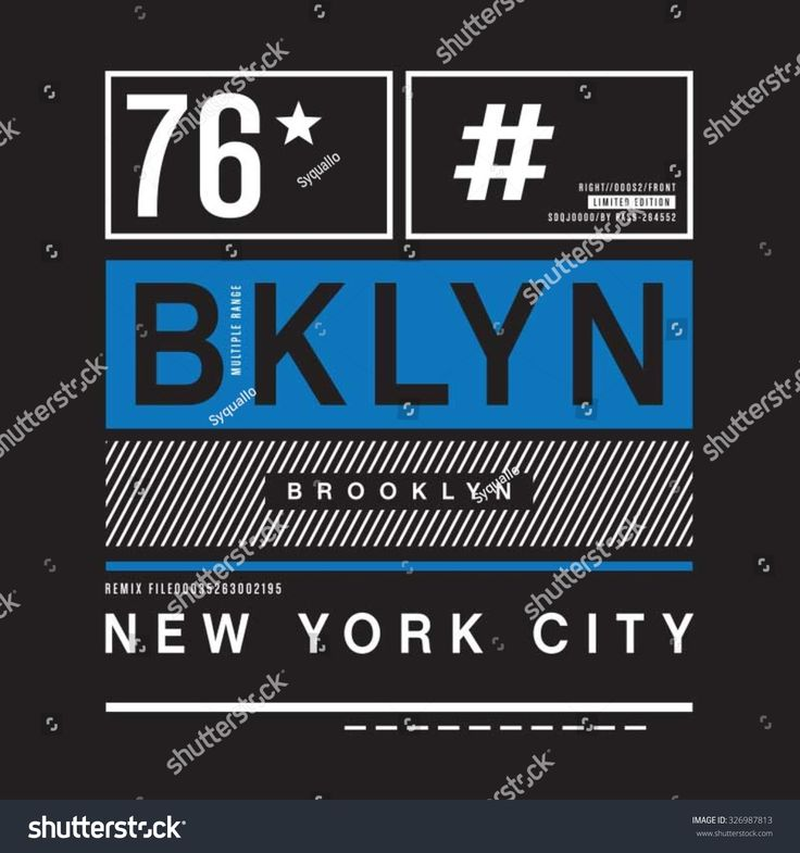 Brooklyn remix typography, t-shirt graphics, vectors