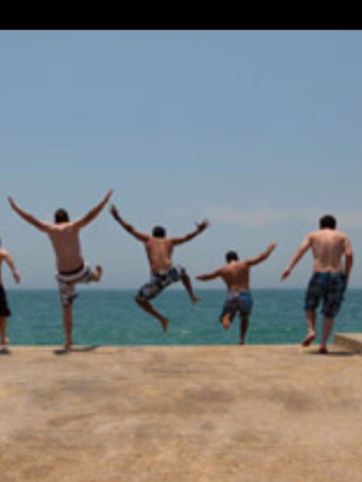 Schools's out.  Lads holiday