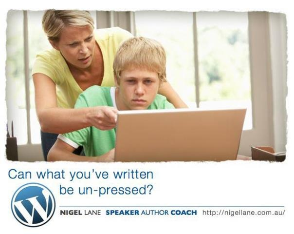 If your Teen has a blog, do you monitor and screen it's content?