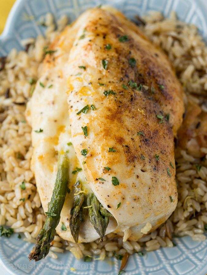 I love how quickly this Asparagus Stuffed Chicken Breast comes together! It's quickly seared in a pan and then roasted to perfection, my whole family loved this easy dinner recipe!