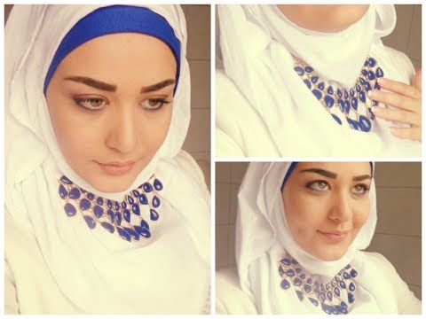 Tutoriel Hijab avec Collier - Hijab with Necklace Tutorial - YouTube