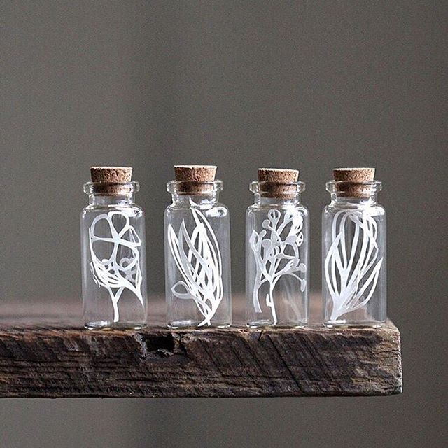 A beautiful shot of my (hellolaurajane) tiny paper cut vessels from the talented @rebeccahaas