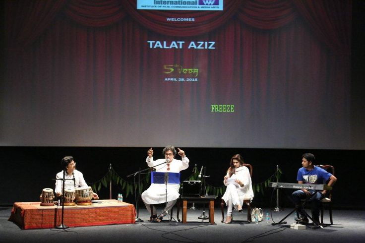 Renowned Ghazal singer, Talat Aziz, was with us at the campus to conduct a session with #WWIStudents, on the art of writing and singing ghazal.