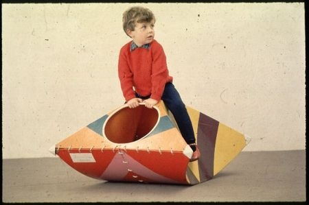 Prototype rocking toy made from cardboard. Design: John Millns - Leeds College of Art, 1968.  Credit: Design Council Slide Collection. Vads.