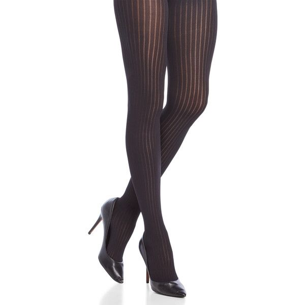 Emilio Cavallini Derby Ribbed Tights (26 BRL) ❤ liked on Polyvore featuring intimates, hosiery, tights, black, emilio cavallini, opaque tights, ribbed stockings, reinforced toe pantyhose and opaque stockings