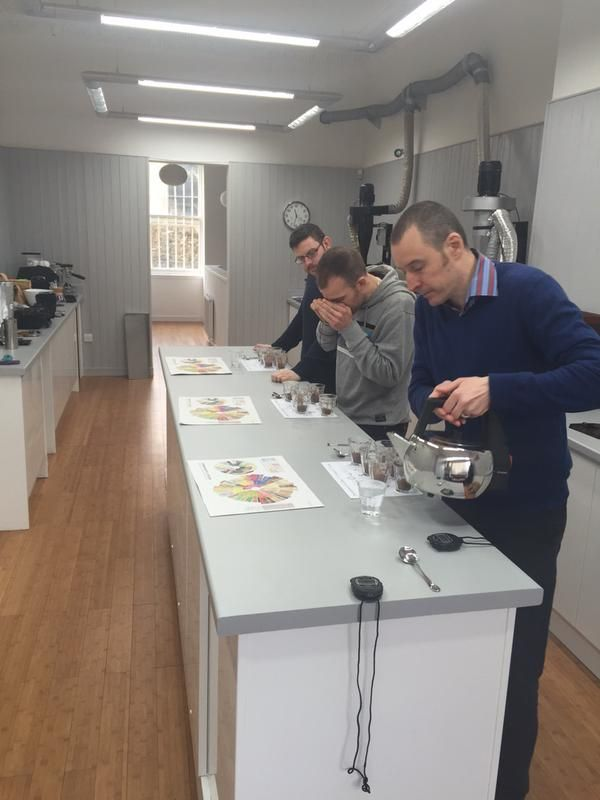 Fantastic learning about roasting coffee what fun learning about different notes developed via roast profiles