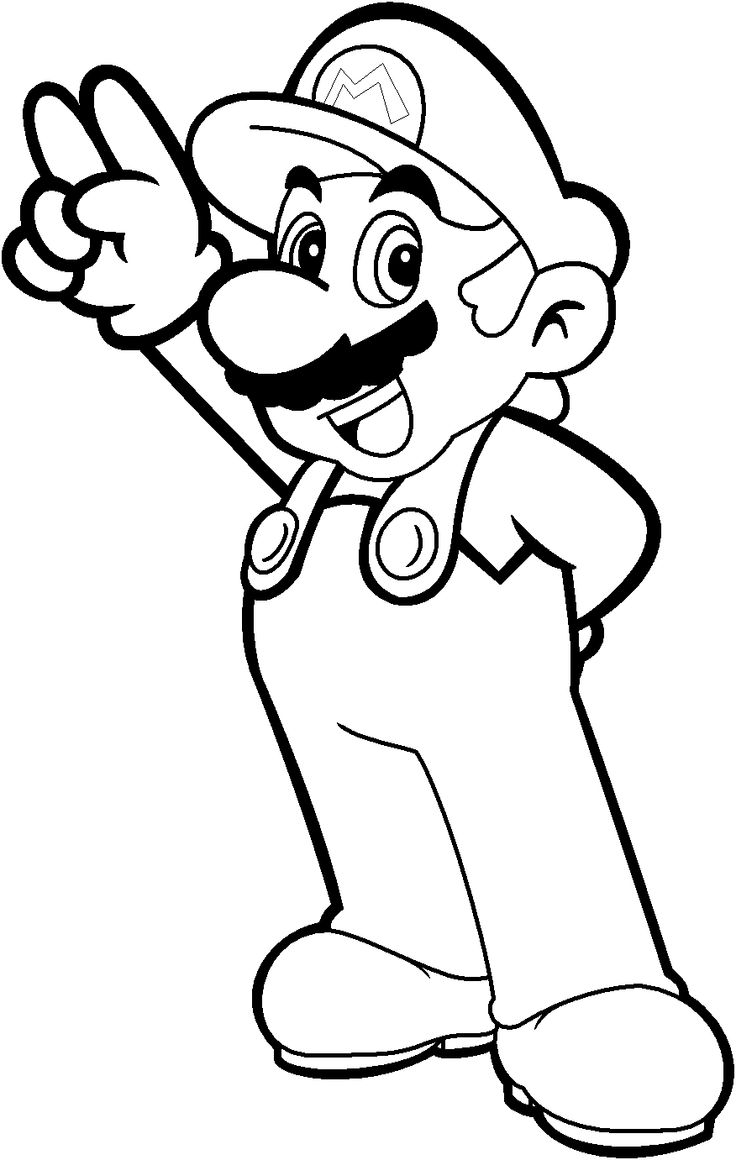 Mario coloring pages featuring Mario and Luigi of Mario Bros