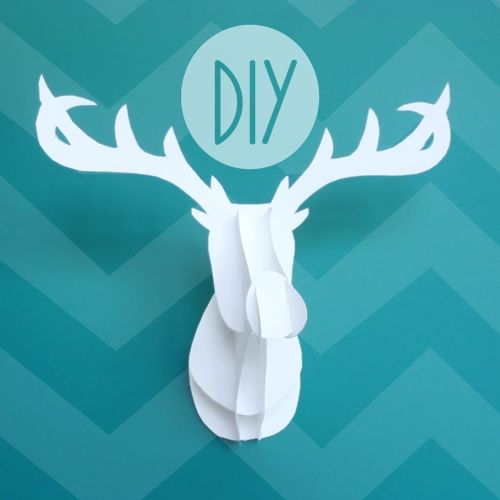 "KNOW AND TELL CRAFTS: Faux Taxidermy Deer Diy!  This one's made out of card stock, but if you have 1/4"" plywood and a scroll saw, you could make a much bigger one.  MAJOR possibilities here..."