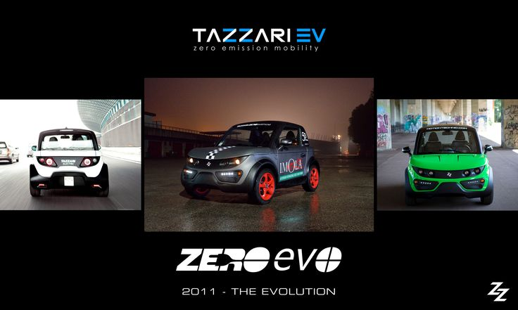 2011 - THE EVOLUTION #Tazzari #EV launches the technological evolution of #Zero: #EVO #electriccar #zeroemission #madeinItaly #nextgen #history #ZeroEVO