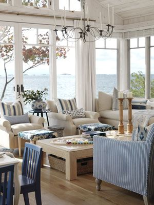 Beach Cottage Living Room: Sarah Richardson, Living Rooms, Window, Sarahrichardson, Lakes Houses, The View, Beaches Houses, Beaches Cottages, Sunroom