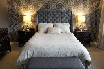 Grey Master Bedroom - contemporary - bedroom - ottawa - KM Decor
