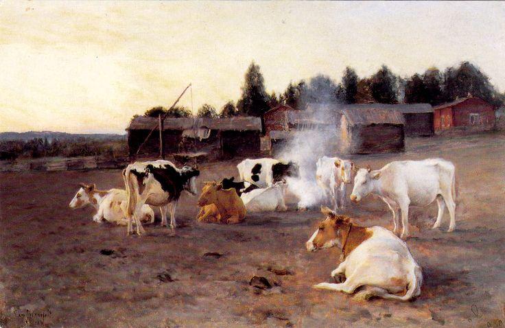 Kuva albumissa EERO JÄRNEFELT - Google Kuvat. Lehmisavu 1891.
