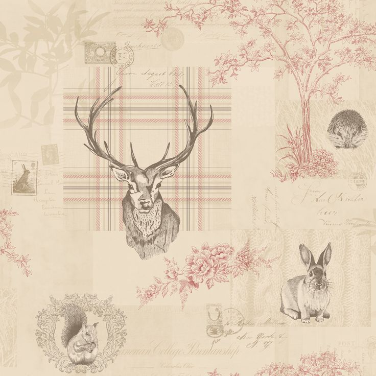 Richmond stag wallpaper by Holden Decor - 98010