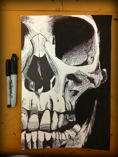 Sharpie Art - very creepy... Look at what you can do! sorry just a picture - original pinner didn't include the original source :-(
