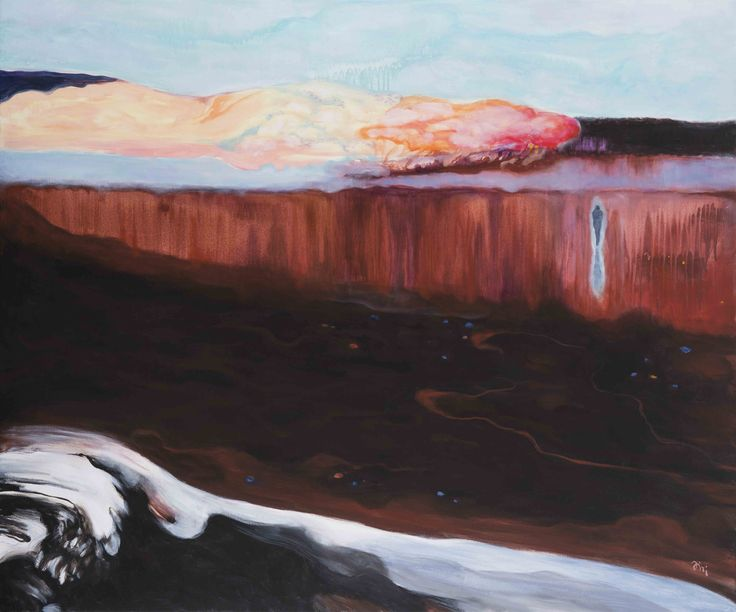 Jiři Hauschka: Lake, 2016, acrylic on canvas, 80 x 120 cm