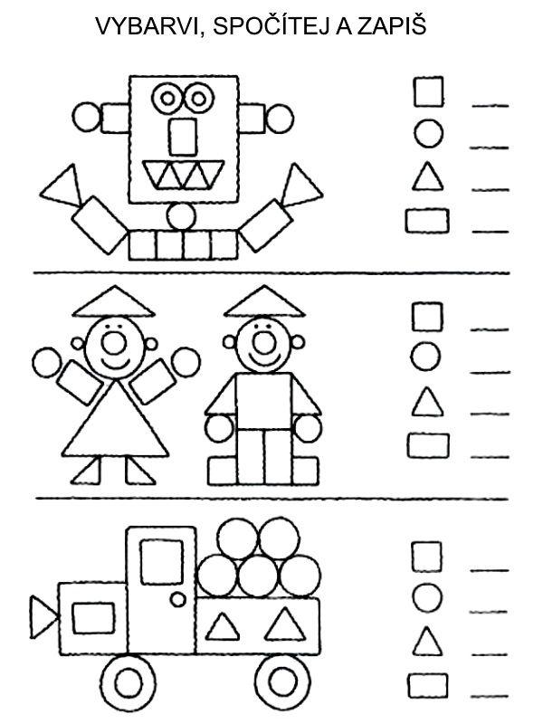 Počítání - tvary