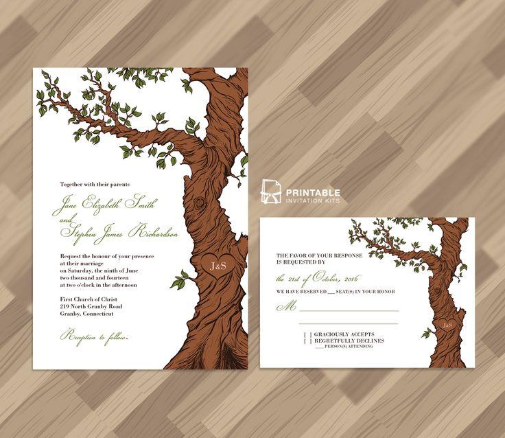Fairytale Tree – Rustic Invitation Template and RSVP ← Printable Invitation Kits