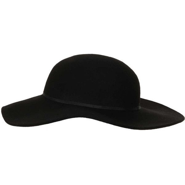 TopShop Big Floppy Hat (255 MXN) ❤ liked on Polyvore featuring accessories, hats, topshop, black, floppy hats, floppy brim hat, brimmed hat, wool floppy hat and wool hat