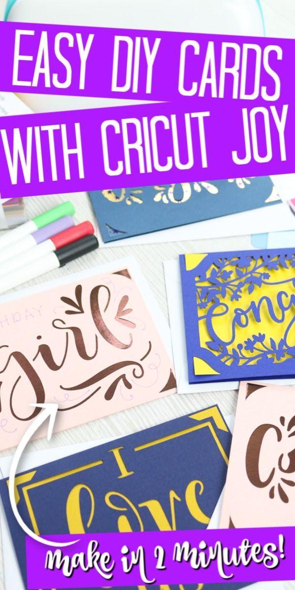 Making Cards With The Cricut Joy Card Mat Joy Cards Simple Cards Handmade Diy Cards With Cricut