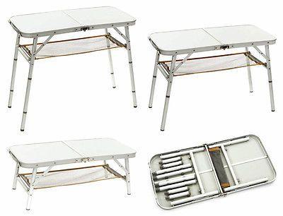 höhenverstellbar BO CAMP Alu Campingtisch premium Beistelltisch Klapptisch Tisch