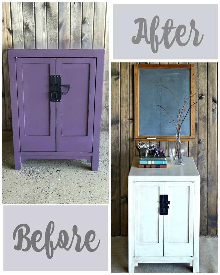 My Passion For Decor: A New Look For a Purple Cabinet  Debi's Design Diary Vintage Linen.  Annie Sloan soft dark and clear wax.  #makeover #update #painted furniture #purple #vintagelinen #paint